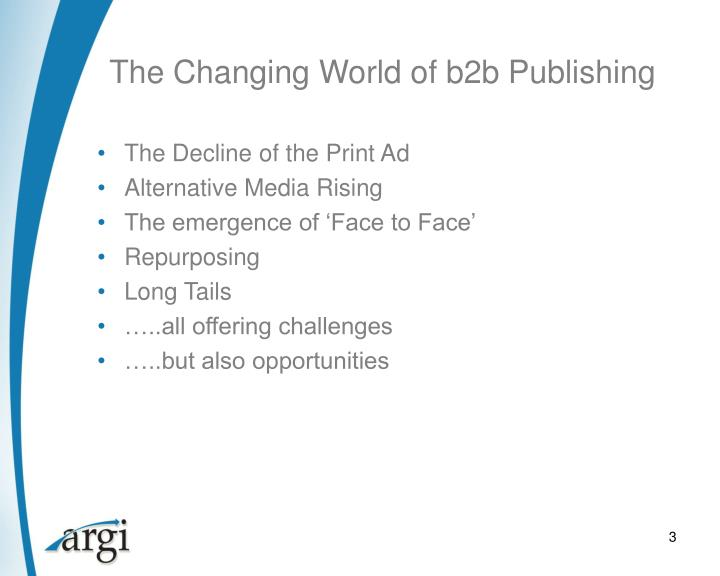 The changing world of b2b publishing