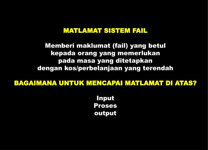 MATLAMAT SISTEM FAIL