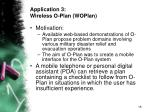 application 3 wireless o plan woplan