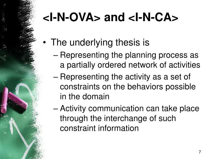 <I-N-OVA> and <I-N-CA>
