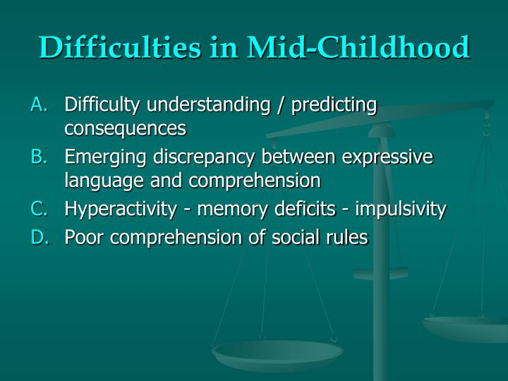 Difficulties in Mid-Childhood