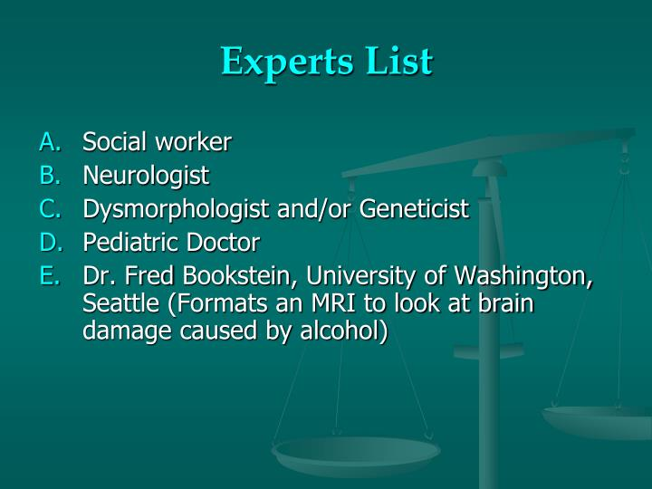 Experts List