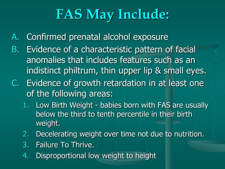 FAS May Include: