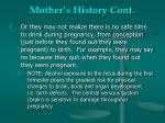 mother s history cont