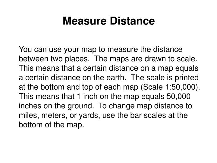 Measure Distance