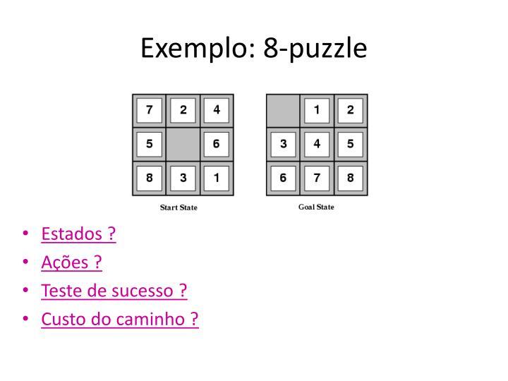 Exemplo: 8-puzzle