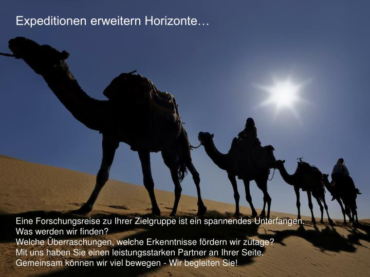 Expeditionen erweitern Horizonte…