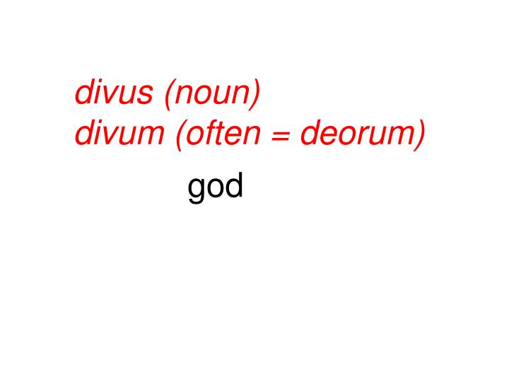 divus (noun)