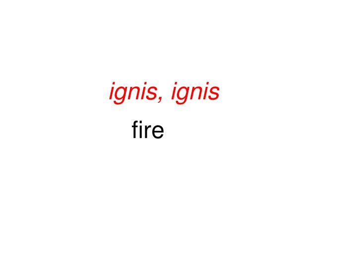 ignis, ignis