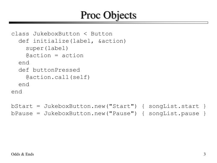 Proc objects