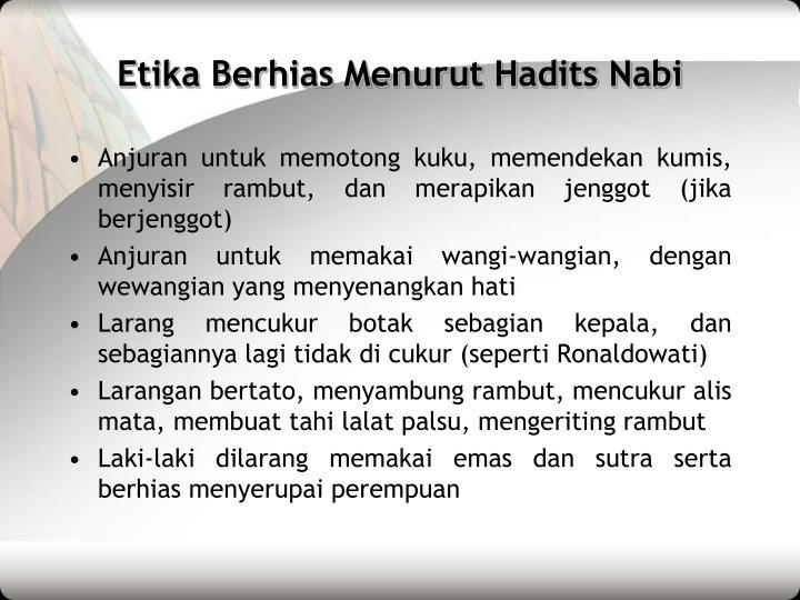 Etika Berhias Menurut Hadits Nabi