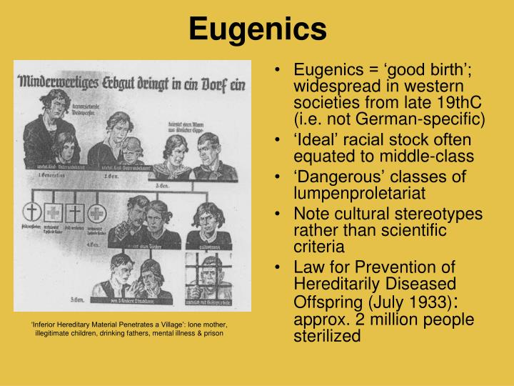 a history of the scientific theory of eugenics Whilst eugenics depends, in theory,  at this point eugenics stops being scientific and starts  excerpts from a history of the american eugenics movement.