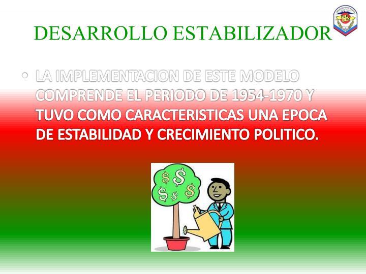 DESARROLLO ESTABILIZADOR