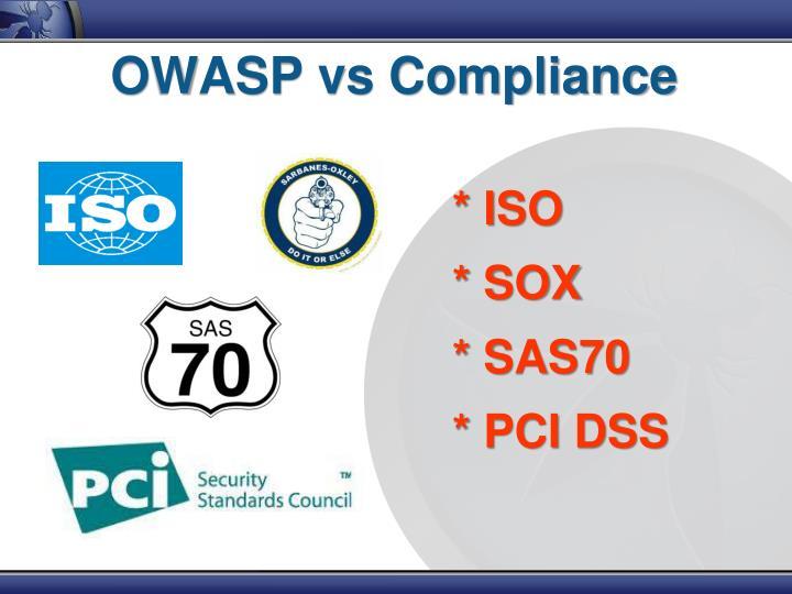 OWASP vs Compliance