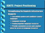 ignite project positioning