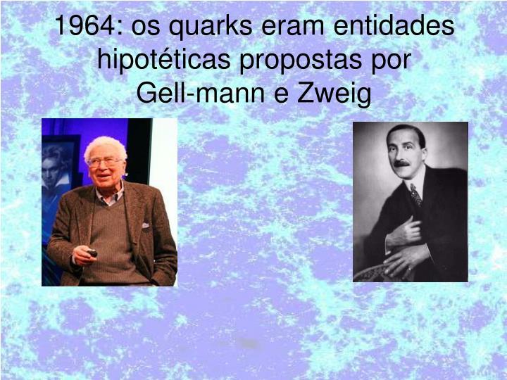 1964: os quarks eram entidades hipotéticas propostas por