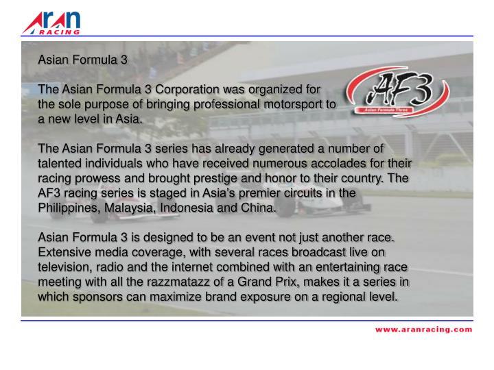 Asian Formula 3