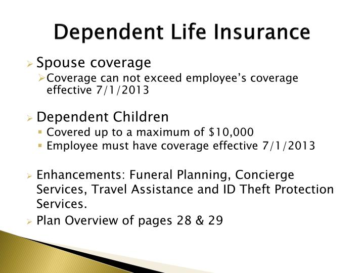 Dependent Life Insurance