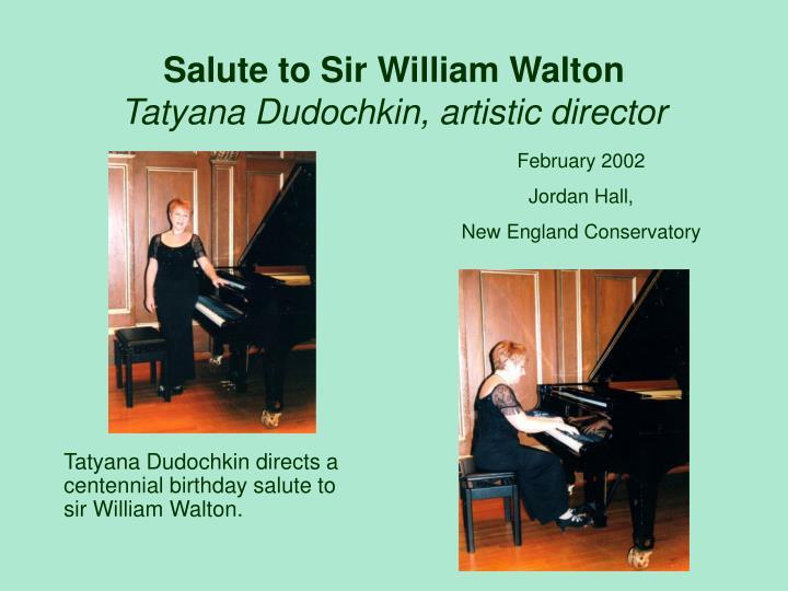Salute to Sir William Walton