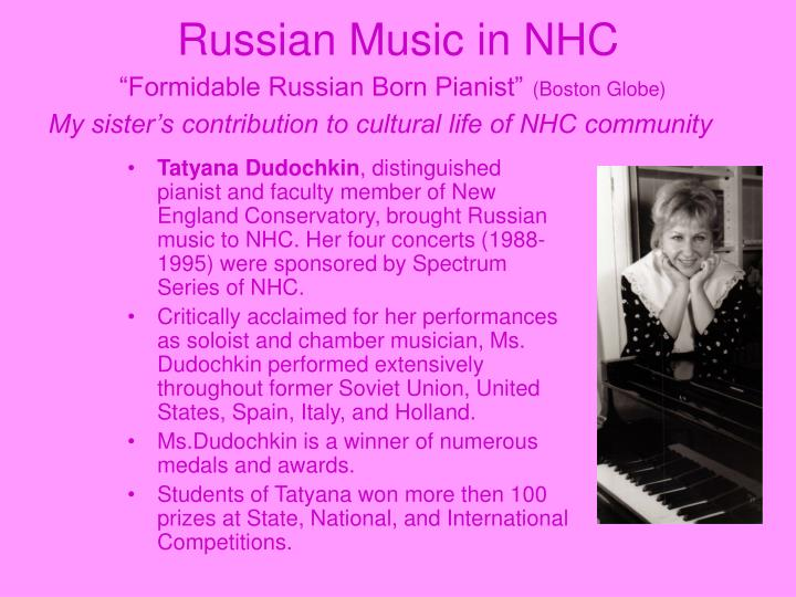 Russian Music in NHC