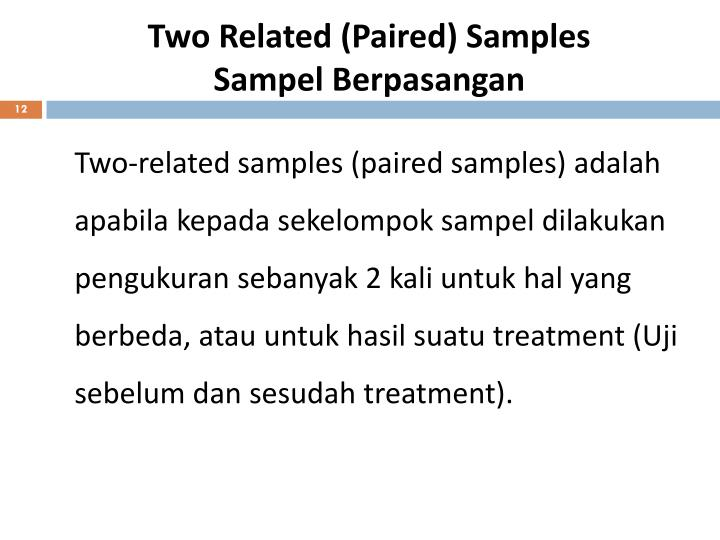 Two Related (Paired) Samples