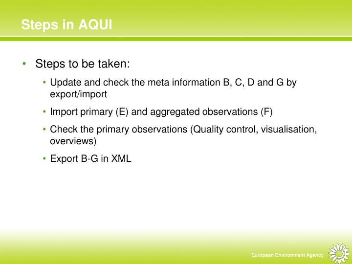 Steps in AQUI