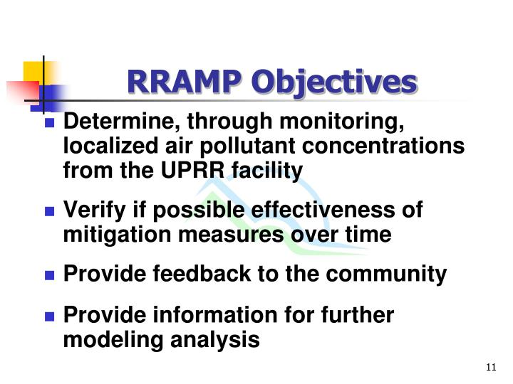 RRAMP Objectives