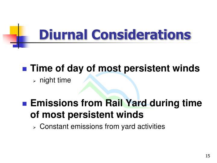 Diurnal Considerations