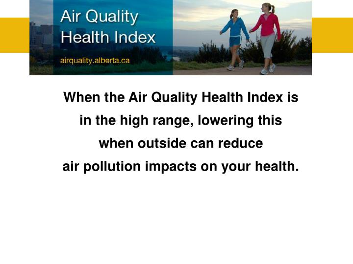 When the Air Quality Health Index is