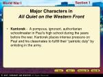 major characters in all quiet on the western front1