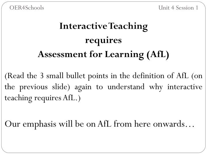 Interactive Teaching
