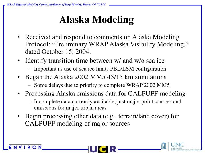 Alaska Modeling
