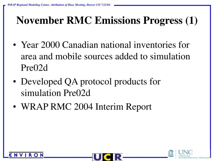November RMC Emissions Progress (1)