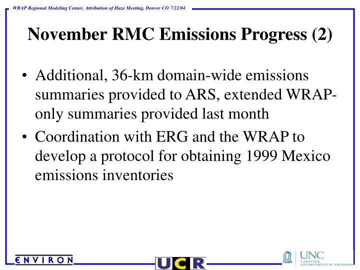 November RMC Emissions Progress (2)