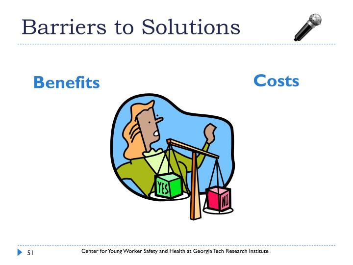 Barriers to Solutions