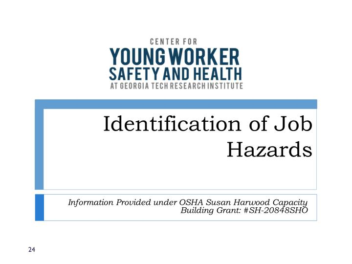 Identification of Job Hazards
