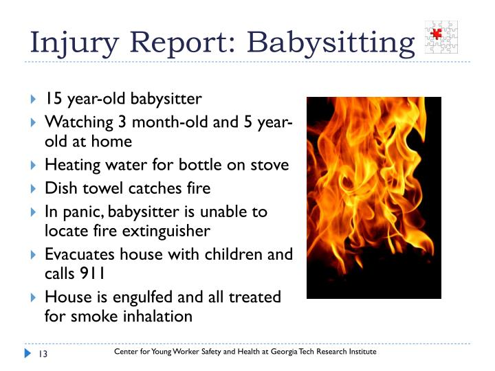 Injury Report: Babysitting