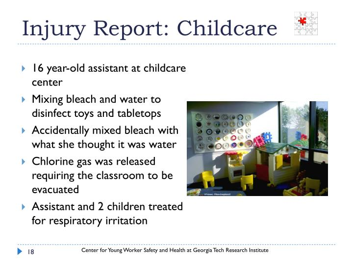 Injury Report: Childcare