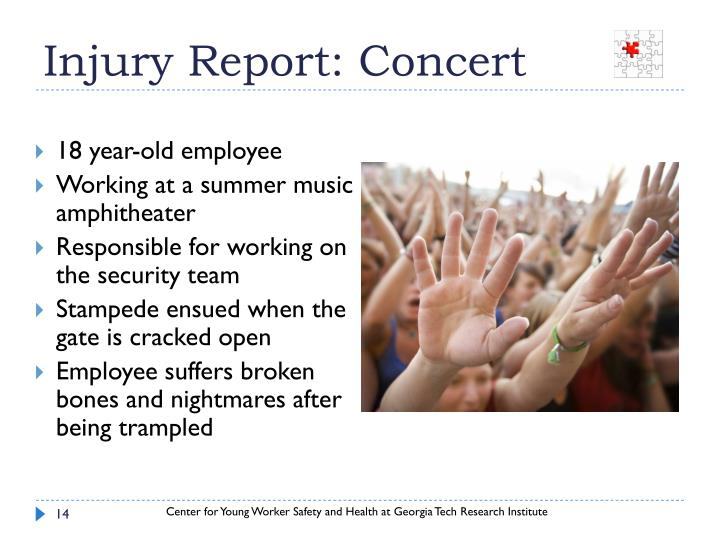 Injury Report: Concert