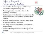 injury report laboratory safety