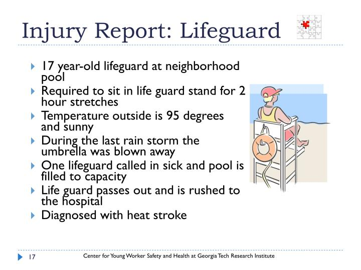 Injury Report: Lifeguard