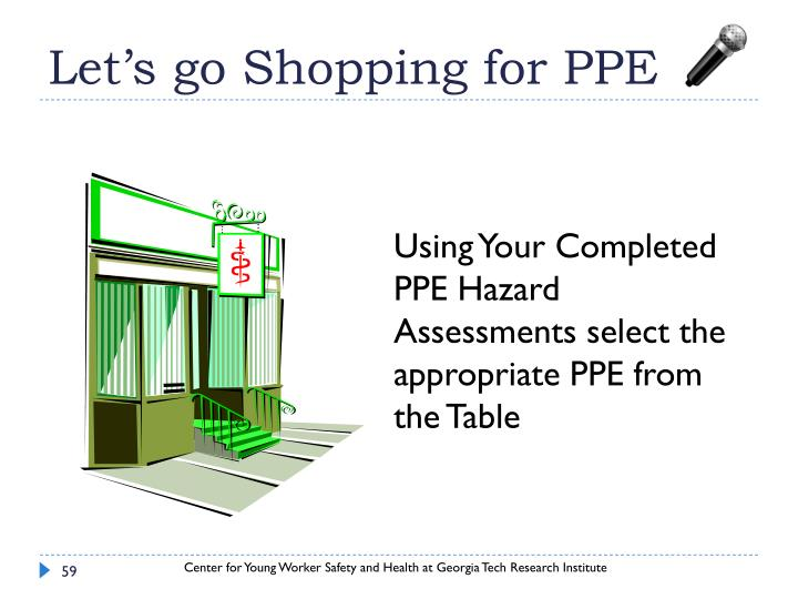 Let's go Shopping for PPE