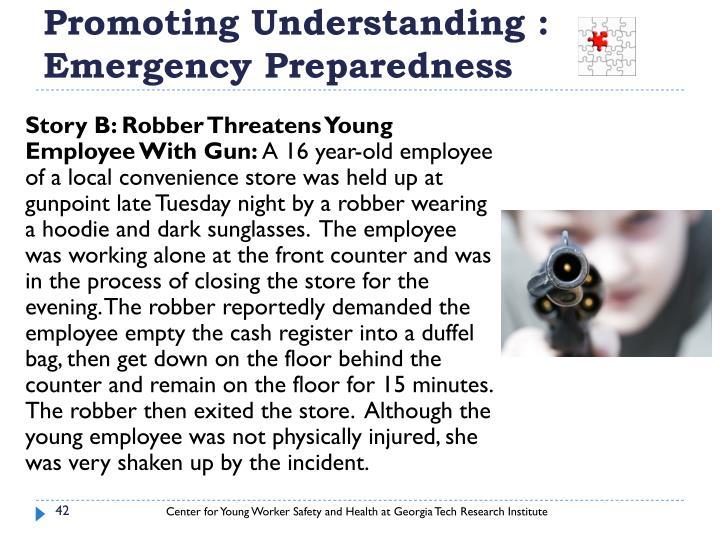 Promoting Understanding :