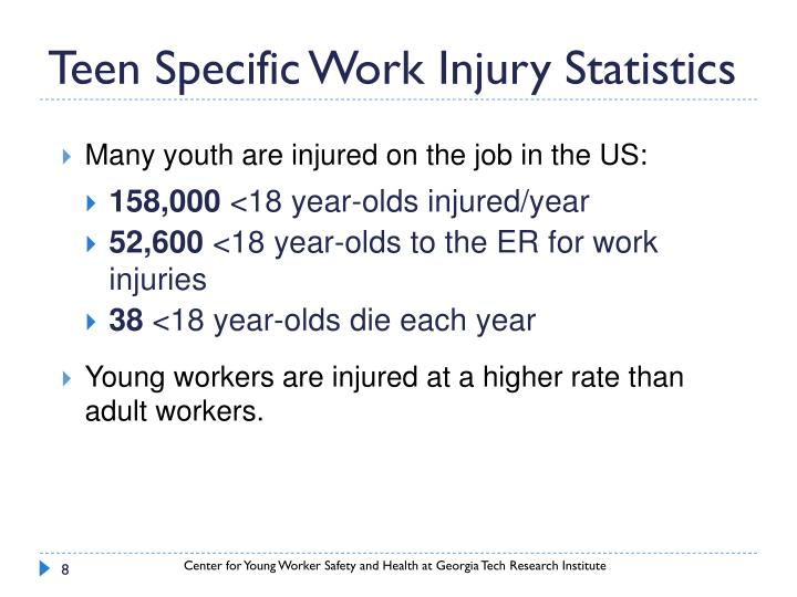 Teen Specific Work Injury Statistics