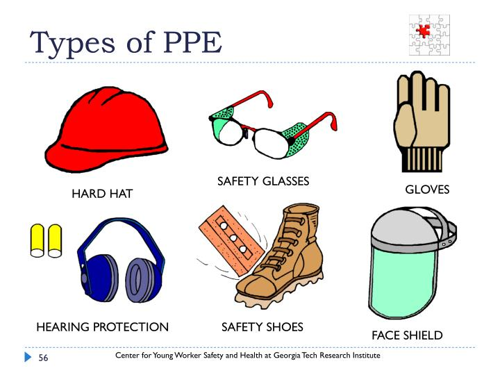 Types of PPE