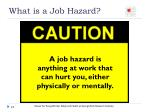 what is a job hazard