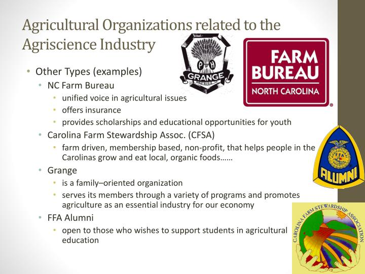Agricultural Organizations related to the