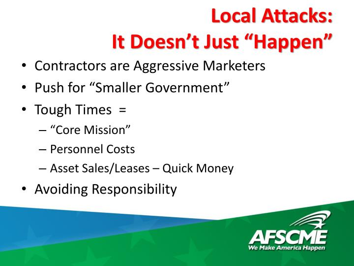 Local Attacks: