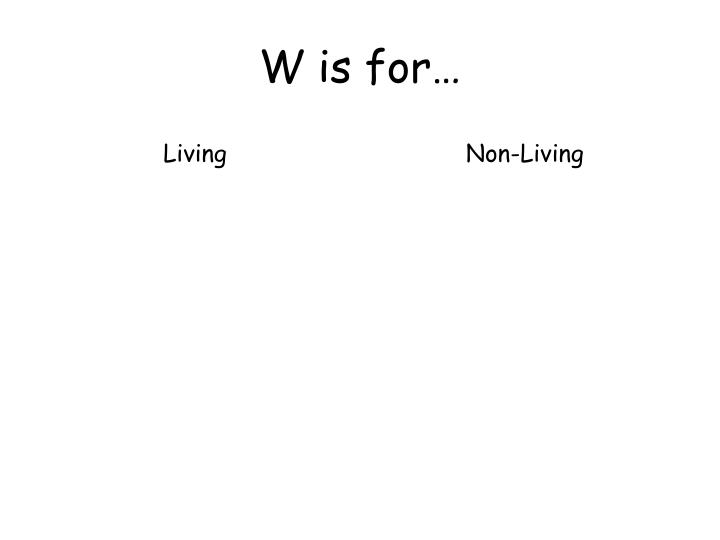 W is for…