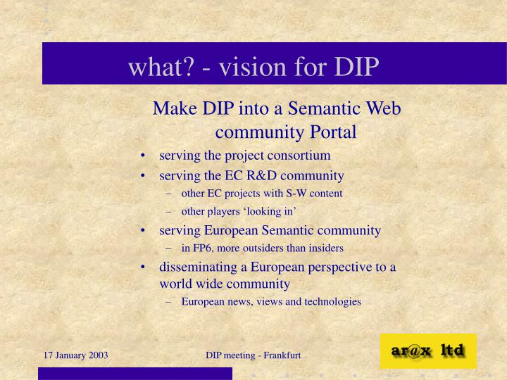 What vision for dip